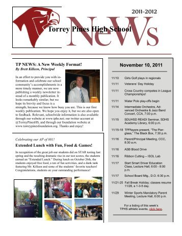 TP Weekly, 11/10 - San Dieguito Union High School District