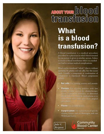 About Your Blood Transfusion - Community Blood Center