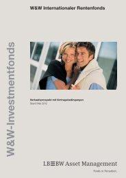 Investm en tfo n d s W&W Internationaler Rentenfonds