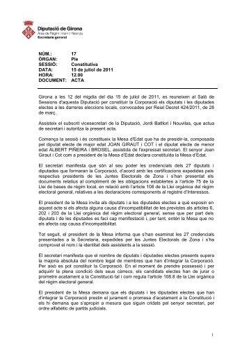 Acta del Ple Extraordinari de juliol de 2011-sessió constitutiva
