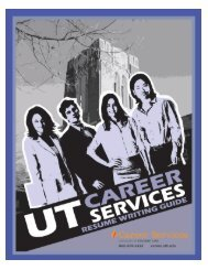 Resume Writing Guide - Career Services - The University of ...