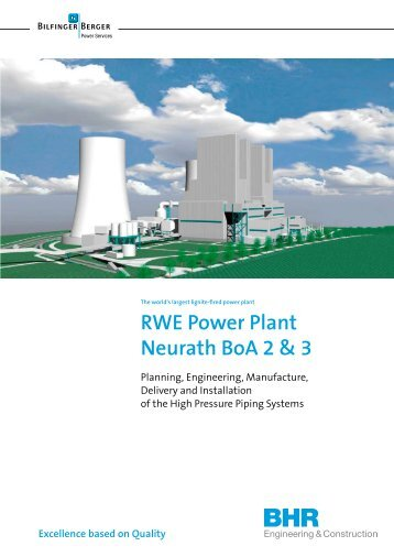 RWE Power Plant Neurath BoA 2 & 3 - Bhr - Bilfinger