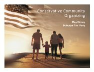 Conservative Community Organizing