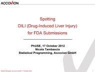 Spotting DILI (Drug-Induced Liver Injury) for FDA ... - PhUSE Wiki
