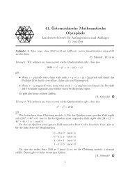 41. Österreichische Mathematische Olympiade - bgfeldkirch.net