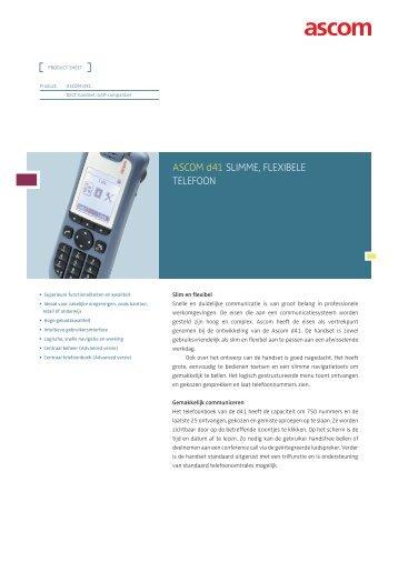 d41 handset - Ascom