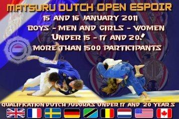 Info flyer - Judo Bond Nederland