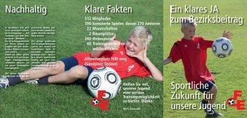 Flyer Werbung Kunstrasen - Fussballclub Einsiedeln - FC Einsiedeln