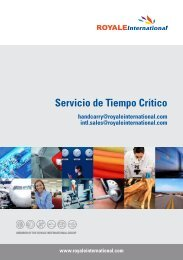Servicio de Tiempo Crítico - Royale International Group