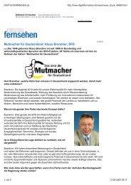 Mutmacher für Deutschland - Brandner, Klaus (MdB)