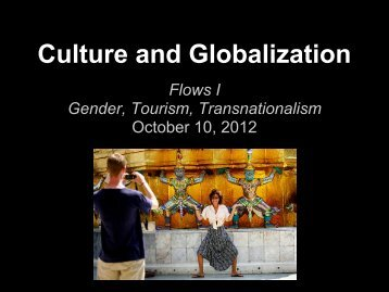 Brainstorm Activity - Culture and Globalization