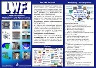 Flyer Laboratorium für Werkstoff- und Fügetechnik (LWF), Uni ...