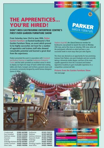 Garden Furniture Eastbourne eastbourne garden furniture show - parker building supplies