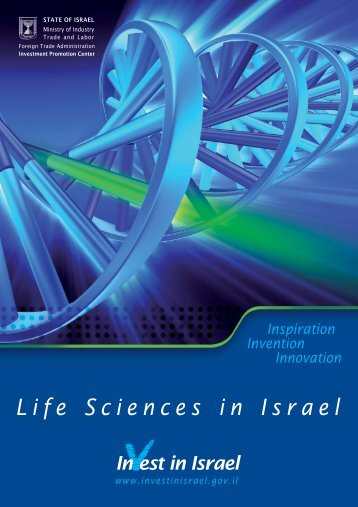Life Sciences overview 2008.FH11 - Invest in Israel