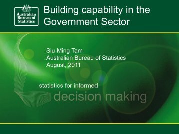 4.2 Building statistical capability for evidence ... - Conker Statistics