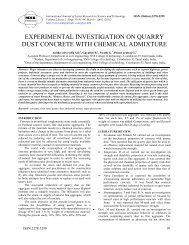experimental investigation on quarry dust concrete with chemical ...