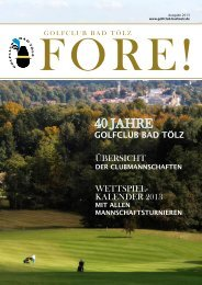 Fore - Golfclub Bad Tölz eV