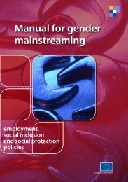 Manual for gender mainstreaming - European Commission - Europa