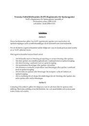 Svenska Fotbollförbundets (SvFF) Reglemente för Spelaragenter