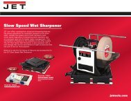 Slow Speed Wet Sharpener Accessories - JET Tools