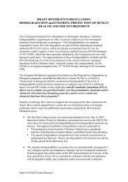 Draft Detergents Regulation - erasm