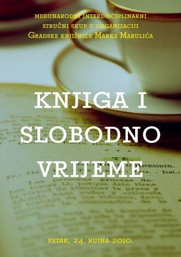 Knjiga i slobodno vrijeme - Gradska knjižnica Marka Marulića