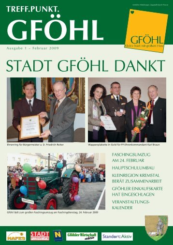 STADT GFÖHL DANKT - Stadtgemeinde Gföhl