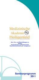 Medizinische Heiligenfeld - Akademie Heiligenfeld