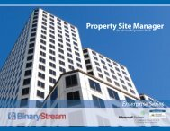 Property Site Manager for Microsoft Dynamics GP - Binary Stream