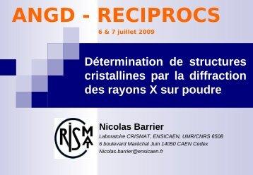 Poudres - Centre de Diffractométrie X