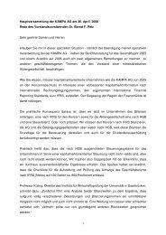 Rede von Herrn Dr. Pelz anlässlich der ... - KAMPA AG