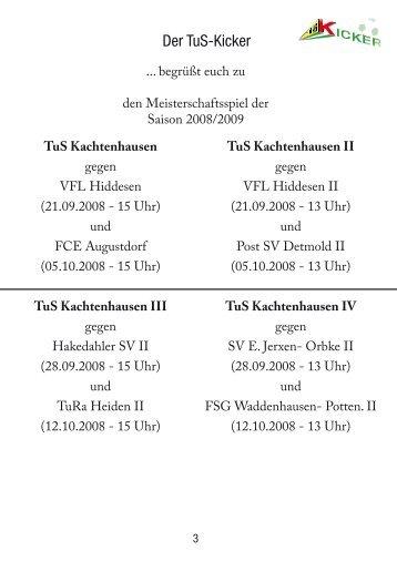 Der TuS-Kicker - TuS Kachtenhausen Kicker