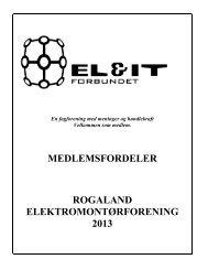 Medlemsfordeler for år 2013 - Rogaland Elektromontørforening