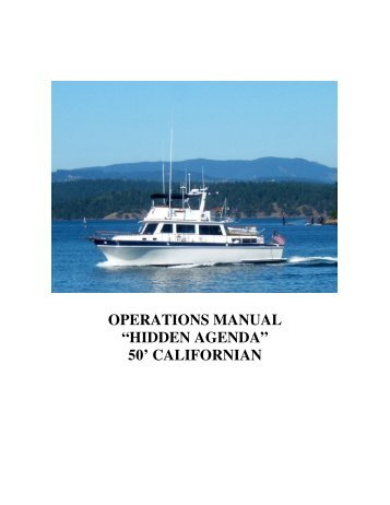 """hidden agenda"" 50' californian - Ship Harbor Yacht Charters"