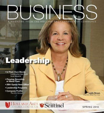 Leadership - West Coast Chamber of Commerce