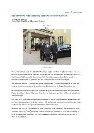 Bonner BMW-Niederlassung setzt 90 Millionen Euro um (29.04 ...