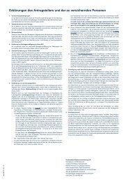 Continentale Rahmen- und Tarifbedingungen (PDF)