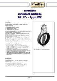 Absperrklappe BR 17z - Typ WZ - Pfeiffer Chemie
