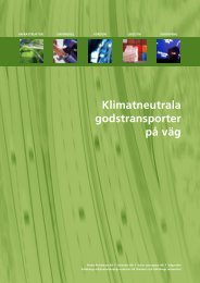 Klimatneutrala godstransporter på väg, samarbetet 2007 - KNEG