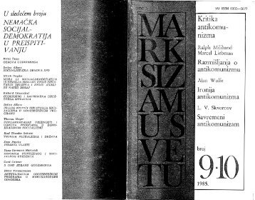 Vuletić, Ljiljana (ur.) Marksizam u svetu br. 9-10 - Učitelj neznalica i ...