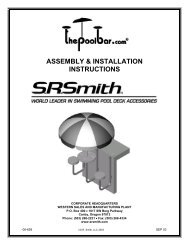 ASSEMBLY & INSTALLATION INSTRUCTIONS - Cheap Pool Products
