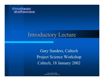 Introductory lecture on management of large scientific projects