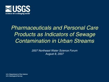 Pharmaceuticals and Personal Care Products as ... - NEIWPCC