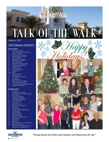 UPCOMING EVENTS - Village Walk of Bonita Springs