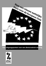 Naar een nieuwe wettelijke basis voor de Europese - Ander Europa