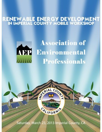 AEP Renewable Energy Development Mobile Workshop Handout