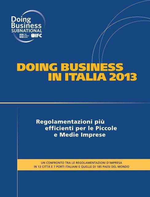 DOING BUSINESS IN ITALIA 2013
