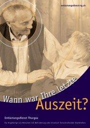 Flyer Auszeit? - Entlastungsdienst Thurgau