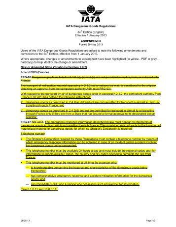 shipper declaration for dangerous goods packing instructions