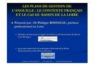 LES PLANS DE GESTION DE L'ANGUILLE : LE CONTEXTE ...